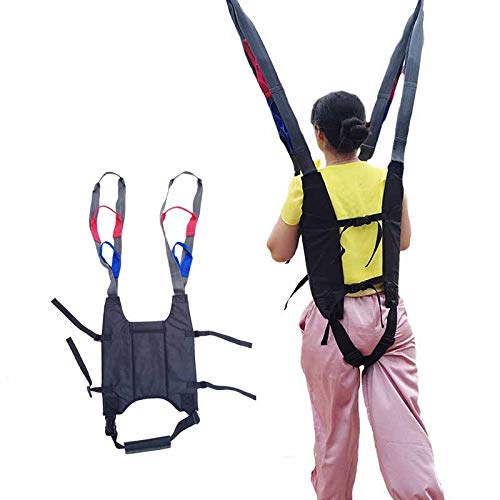 Patient Aid Padded U-Sling, Divided Leg Shower Sling with Padded Safety Transfer Belt Commode Sling Handicap Patient Care Bed Seat Belt