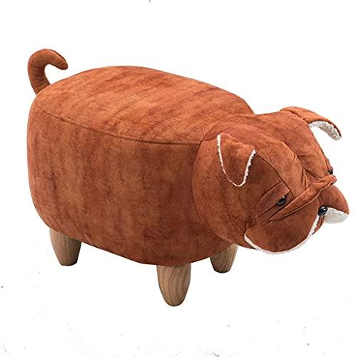 Reposapiés para sofá, taburete de almacenamiento para cachorros, bonito reposapiés, marco de madera, patas y tapa, muebles de animales otomanos, 65 x 35 x 37 cm (color : C, tamaño: sin almacenamiento)