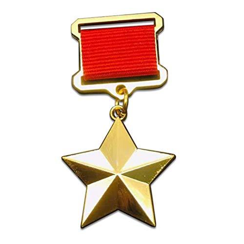 Kocreat Medalla de Héroe Laborista Soviética de la Unión Soviética CCCP Rusia Labor Estrella Medalla de Oro de la WW2 USA URSS Insignia Militar