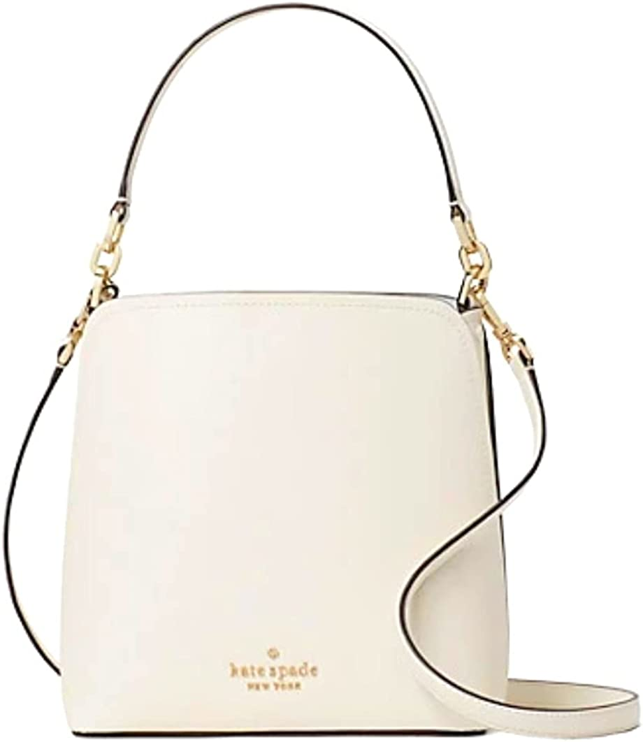 KATE SPADE DARCY SMALL BUCKET CROSSBODY SHOULDER BAG PURSE PARCHMENT LEATHER
