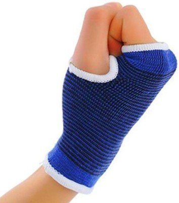 DreamPalace India Elastic Palm Wrist Glove Hand Grip Protector Brace Sleeve Support (Free Size, Black)