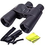 SJ Comat Waterproof 10X50 Zoom 10X Prism Binocular Telescope Monocular with Pouch Hard