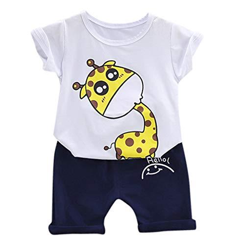 Julhold Sommer Kleinkind Kinder Jungen Mädchen Hübsche Lose Cartoon Outfits T Shirt Tops Shorts Kleidung Set 5 Stil Neu