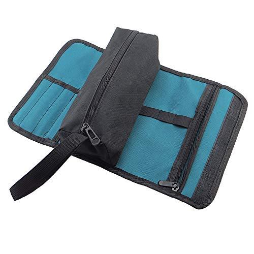 Gobesty Werkzeugrolltasche, Faltbare Werkzeuge Rollenhalter Aufbewahrungstasche Werkzeugrolle Rolltasche Oxford Rolle Werkzeugtasche Rolltasche Aufbewahrungstasche