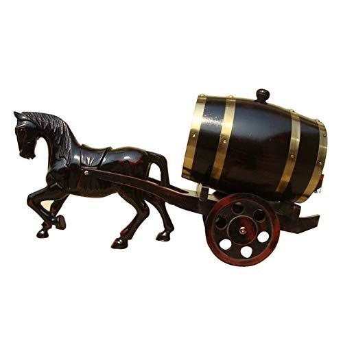 Juego de Jarras y Vasos de Whisky Envejecimiento Roble Barriles De Whisky Barril De Vino Dispensador Cubo Prueba De Fugas For El Almacenamiento De Vinos Y Licores Y Whisky, Regalo De Transporte, 5L