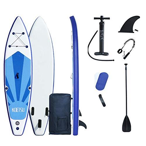 ALLWIN Tabla Paddle Surf Inflable 320X76x15cm,Cubierta Antideslizante Jóvenes Y Adultos,Accesorios Paddleboard Sup,Control...