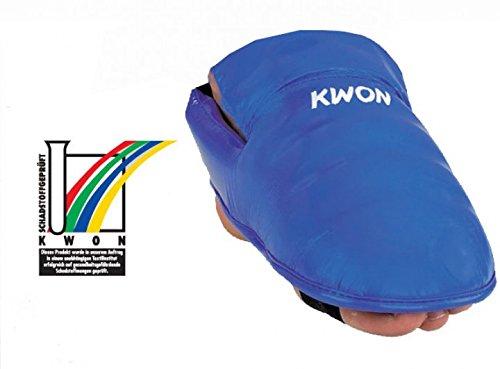 KWON Karate Fußschützer, blau, Gr. M