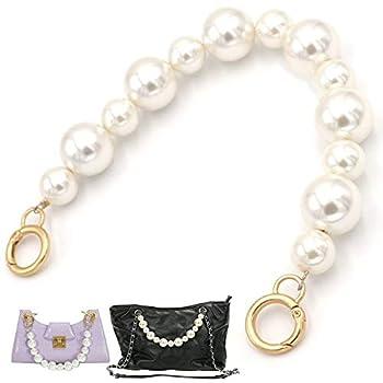 Purse Handbag Chain Handles Sturdy Imitation Pearl Bead Purse Handle 13.7  Large Pearl Bag Strap Replacement Short Bag Charms Handbag Chain Replacement Accessories Decoration Chain