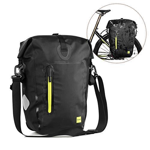 PELLOR Fahrradtasche 25L Gepäckträgertasche MTB Fahrrad Hinterradtasche Anti-Riss Rücksitz Rack Tasche Wasserfest (Grün)