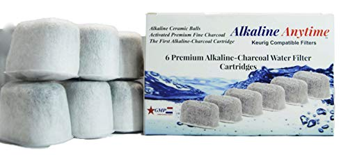 Premium Keurig compatible-Alkaline Ceramic-Charcoal Water Filters Replacement Cartridges-First filter for Keurig with alkaline ceramics. For Keurig Coffee Machines after 2007-Patent Pending (12 Pack)
