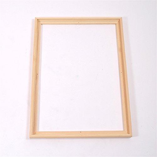 2 SCHATTENFUGEN BILDERRAHMEN PINIENHOLZ UNBEHANDELT für Leinwände & Keilrahm im Format 30 x 40 cm