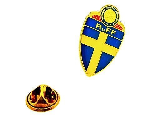 Gemelolandia | Pin de solapa Escudo Selección de Fútbol de Suecia 27x17mm | Pines Originales Para Regalar | Para las Camisas, la Ropa o para tu Mochila | Detalles Divertidos