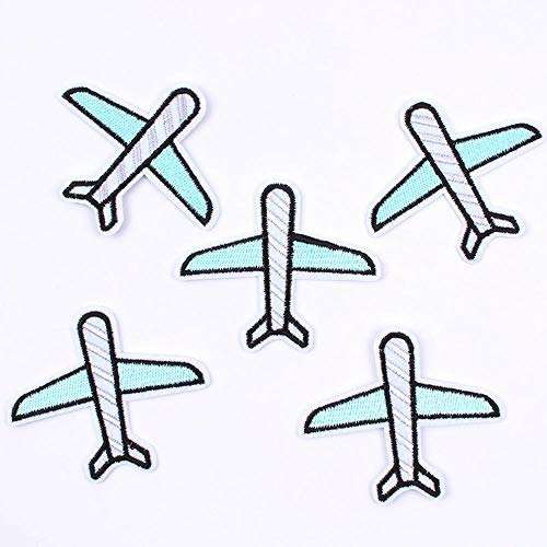 5pcs Iron Lapje vliegtuig vliegtuigen naaien tape ontworpen voor baby's en kinderen jeans kleding rugzak DIY kleding logo