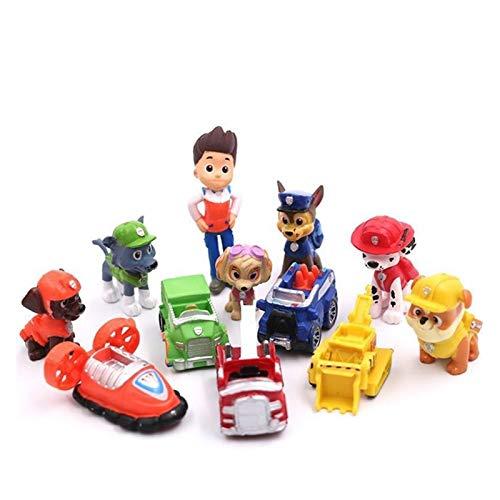 JSJJATQ Peluche 12 unids / 8pcs Mini Figura de acción Linda Modelo Mini Capitán y Modelo de Perro Juguetes de Regalo para niños (Color : DZ 12PCS)