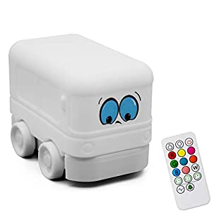 Night Light for Kids,Cute Bus Silicone Kids Light with Touch Sensor Remote Control,USB Rechargeable,Portable Color Changing Lamps Birthday Giftsfor Baby Infant Toddler Nursery
