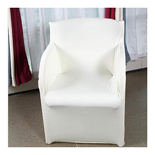 LDGR Stuhlabdeckung Stretch Arm Chair Covers Spandex Armchair Cover Hochzeit Party Chair Cover Schonbezüge for Sessel (Color : Beige, Specification : 73x55CM)
