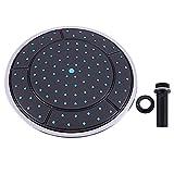 Alysays 1 unids 25 cm plástico Forma Redonda Lluvia Cuarto de Ducha motorizado Techo Techo Techo Cabina Cabina Accesorios de Cabina (Color : Black, Shower Head Size : Other)