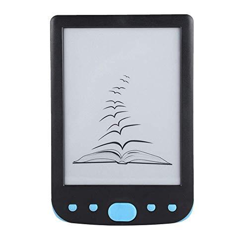 Lector electrónico de tinta electrónica de 6'- Lector de libros electrónicos digital con tecnología de tinta electrónica - Tarjeta TF de 32 GB como máximo (azul)