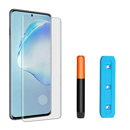 KSTORE365 Cristal Templado para Samsung Galaxy S20+, Protector De Pantalla, Vidrio Templado, Kit UV, 3D Curvo para Samsung Galaxy S20+
