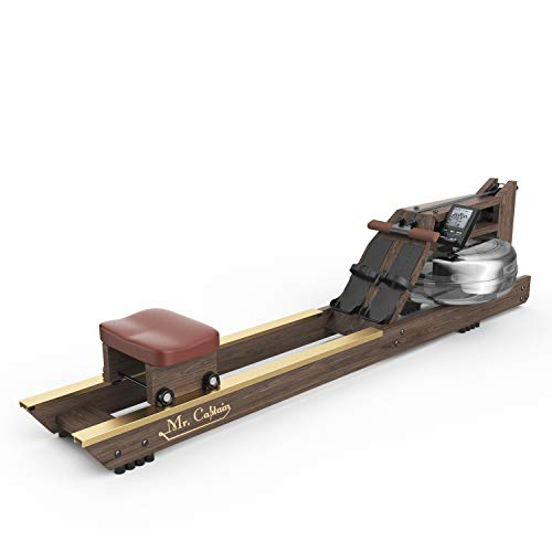 Mr. Captain Rowing Machine for Home Use,Water Resistance Vintage Oak Rower with Bluetooth Monitor by MR. CAPTAIN