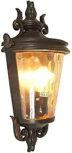 Lámpara de pared americana impermeable para exteriores, lámpara de pared negra clásica para exteriores, lámparas de pared exteriores para entrada, calle, balcón, luz de balcón, luz de patio, luz de p