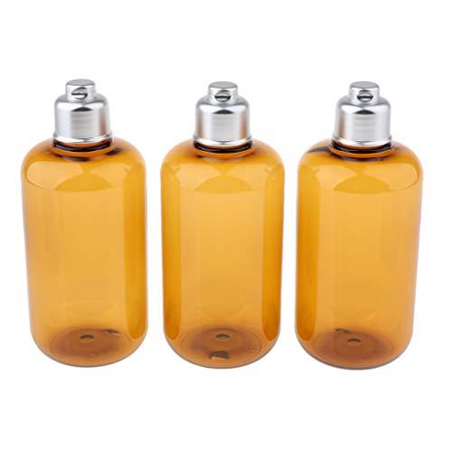dailymall 3 Pcs Voyage Maquillage Rechargeable Conteneurs Lotion Liquide Shampooing Bouteille Transparent - #2 3pcs ambre