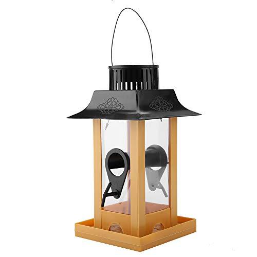 Ruiqas Solar LED Licht Vogel Feeder Station Hängende Tauben Krähe Papagei im Freien Balkon Vogel Fütterung für Garten Balkon