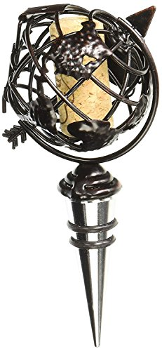 5.25 Globe Design Cork Cage Bottle Stopper with 'To and From' Cork by EPIC