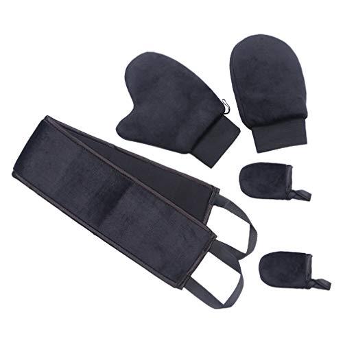 Minkissy - Juego de 5 guantes de tostado automático, aplicadores, guantes de bronceado sin sol para mezclar de Gerber, guante de tostado SPA lavable para productos de uso de maquillaje y aceite