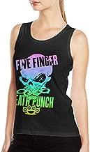JENNASTOLZZ Woman's Five Finger Death Punch Cool Summer Music Band Fans Sleeveless Tank T Shirts XXL Black
