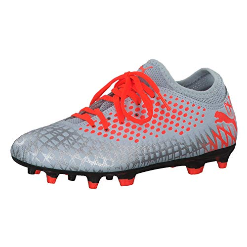 PUMA Unisex Future 4.4 FG/AG Jr Fußballschuhe, (Glacial Blue-NRGY Red-High Risk Red 01), 38 EU