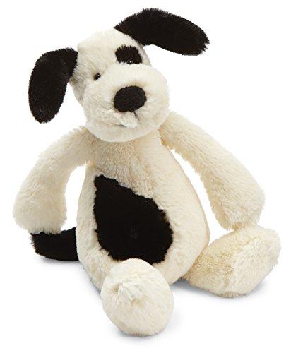 Jellycat Bashful Puppy Peluche Noir/crème Taille S