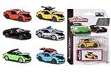 Majorette 212053153 Deluxe Coche de Juguete Porsche 911, Incluye Caja de Recogida, neumáticos de Goma, 7,5 cm, 6 Modelos Diferentes, Entrega 1 Pieza, Multicolor