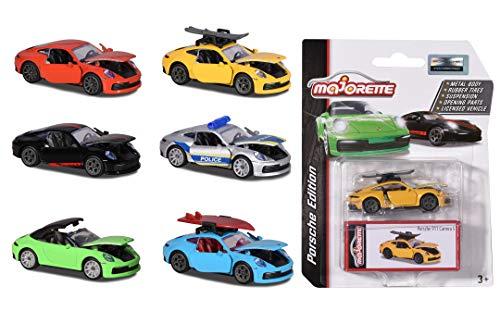 Majorette- Porsche Deluxe Cars Modellini, Colore Modelli Assortiti, 212053153