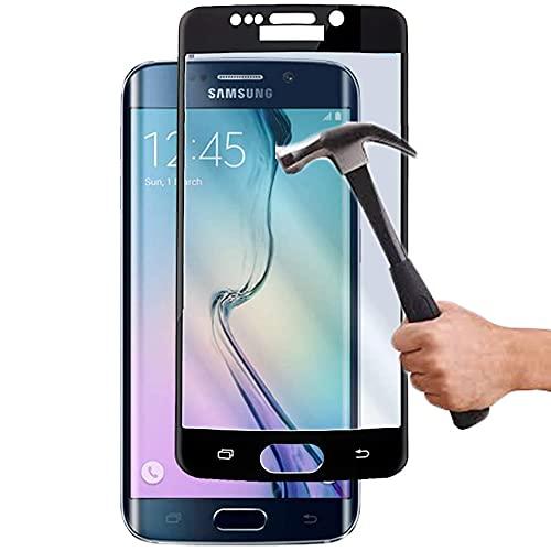 Lapinette Vetro Temperato Integrale Compatibile con Samsung Galaxy S6 Edge - Pellicola Vetro Temperato Galaxy S6 Edge Integrale - 9H Force Glass - Vetro Temperato Copertura Totale