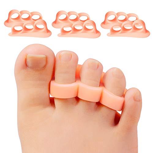 Promifun Gel Toe Separators, 6 pacchetti di distanziatori per dita, raddrizzatore per i calli, punta a martello, punta sovrapposta, dita dei piedi ad artiglio, ridurre il dolore al piede
