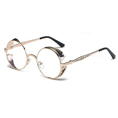 Vrouw retro ronde zonnebril met metalen frame, kleurverloop, uniseks, zonnebril zal zich niet slijten, vrije tijd, vakantie, toerisme, eyewear