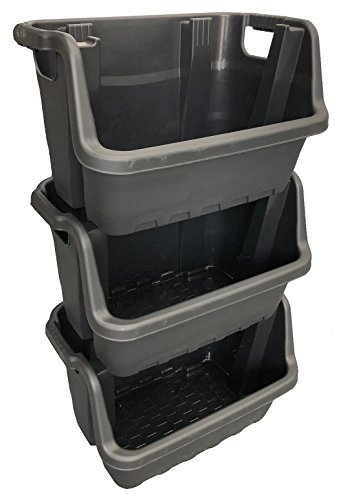 35 Litre Stacking Picking Plastic Open Fronted Recycling Plastic Storage Box Bins (3)