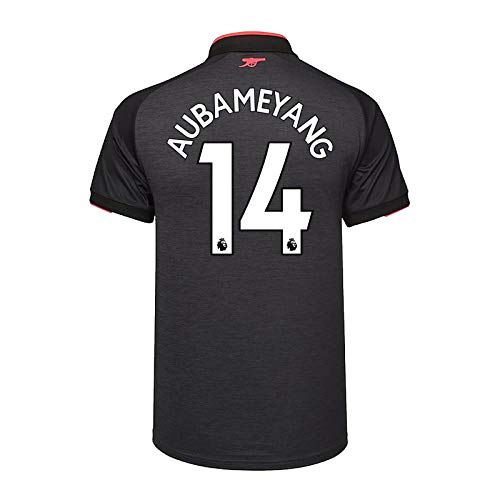 Arsenal FC - Jungen Heim-Ausweichtrikot - Offizielles Merchandise - Geschenk für Fußballfans - Dunkelgrau Aubameyang 14-11-12 Jahre