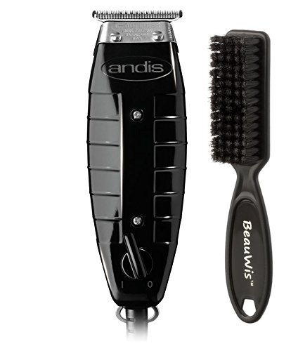 Andis 4775 Gtx T-Outliner Trimmer, Black with a BeauWis Blade Brush