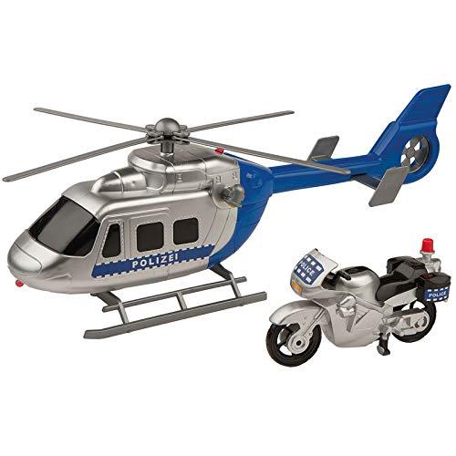 #12 Kinder Polizeiauto Set Polizei Hubschrauber + Motorrad • Spielzeug Polizeiwagen Spielzeug Auto