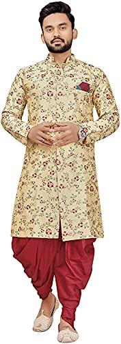 Brand Boy Men's Ethnic Wear Sherwani Wedding Dress Set