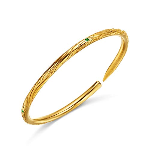 N Bracelet jewelry Gold Color Cuff Bangle Bracelet for Women Girls Valentines Day present