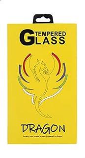 شاشة حماية لاصقة زجاج خماسية الابعاد مقاومة لبصمات الاصابع لموبايل سامسونج جالاكسي A40 من دراجون - اسود وشفاف