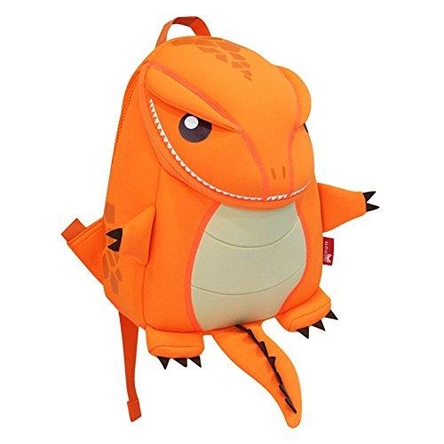 NOHOO reciclan el bolso niños Zoo de dibujos animados 3D Naranja Firedrake