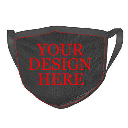 Custom 1PCS Face Mask Mouth Cover Add Your Own Text Name Personalized Anti Dust Reusable Mouth Scarf for Adult Unisex
