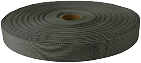 Strapworks Military Spec Flat Nylon Webbing – MilSpec 17337 Strap for Rifle Slings, Backpack Straps, Tactical Projects – Made in The USA, Military Foliage Green, 1 Inch x 10 Yards