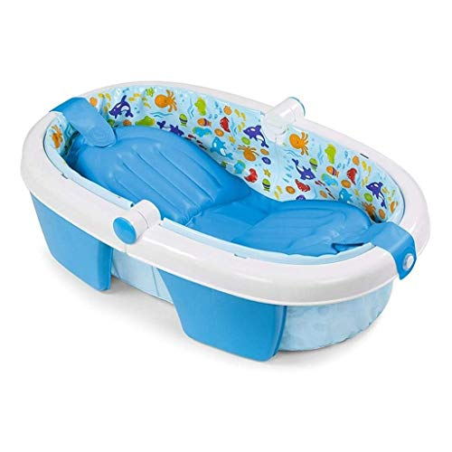 XCXC Baby Aufblasbare Badewanne, Faltbare Tragbares Badefass, Verdickte PVC-Material, Kinder Wannenbad, Geeignet for Baby Beweglichen Tauchbad, Unabhängiger Dichtung