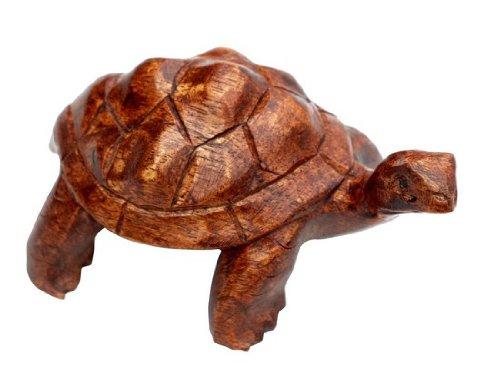 Schildkröte 10 cm Holz Tier Schildi Turtle02.10