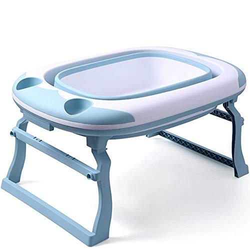 Badkuip Baby-Opvouwbare Baby Bad Tub,3 modi, Geschikt voor verschillende eisen van de baby op verschillende leeftijden, kan begeleiden de baby op te groeien Bathtub Blauw